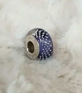 Authentic CHAMILIA Murano Glass Charm Bead Hallmarked 925..Excellent Condition