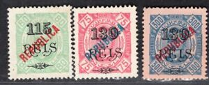 ANGOLA PORTUGAL 1914 STAMP Sc. # 175 AND 178/9 MNG