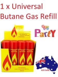1 x Gas Refill Butane Universal Jet Blow torch Lighter Fuel BBQ 250ml Good Cheap