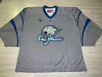 Barys Nur Sultan KHL IIHF Goalie Cut Practice Worn Ice Hockey Jersey Shirt XXL