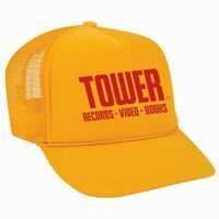 Tower Records Mesh Foam Trucker Snapback Hat cap Brand New