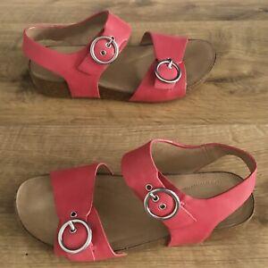 Hotter Tourist II Rosey Pink Sandals Womens Size UK 5 (eur38) Nubuck & Cork Sole