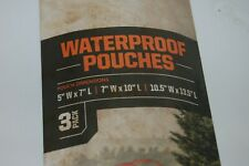 Field And Stream Waterproof Pouches Set Of 3 Boating, Kayaking, Etc