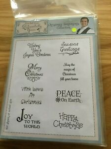 Phil Martin Sentimentally Yours Christmas Stamps
