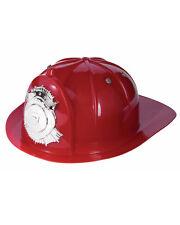 Deluxe Adult Fire Fighter Costume Hard Hat Toy Helmet