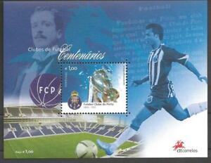 PORTUGAL FUTEBOL CLUBE DO PORTO - 100 YEARS - MNH SOUVENIR SHEET - 2005