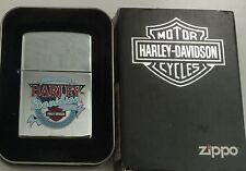 Vintage Zippo  Lighter Harley Davidson Live free Ride free
