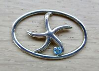 The Touch STERLING Silver CLASP Starfish in Oval Blue Stone Fits LeStage NWOT