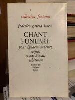 🌓 Federico Garcia Lorca Chant Funèbre Walt Whitman Alger Edmond Charlot 1945
