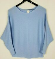 Chico's Women's 2 (Large) Periwinkle Sparkle Dolman Sleeve Ribbed Knit Sweater