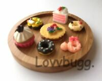 10 Treats Cakes on Oval Tray for American Girl Doll Food Accessory /& Wellie