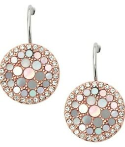 Fossil Earring JF01737791 Ladies Rose Gold Brand New With Fossil Gift Box