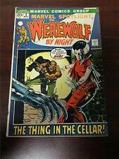 1972 MARVEL COMICS MARVEL SPOTLIGHT ON WEREWOLF BY NIGHT #3 FN- HORROR