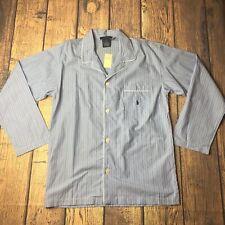 Polo Ralph Lauren Men Size Medium Sleepwear Blue Long Sleeve Top Shirt Nightwear