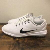 Men's Nike Lunar Control Vapor 2 Wide Golf Shoes White 909037-100 Men's Size 8