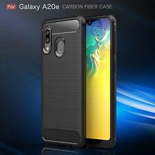 Samsung Galaxy A20e Carbon Hülle Schutzhülle TPU Bumper Outdoor Handy Tasche Neu