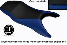 R BLUE AND BLACK VINYL CUSTOM FITS HONDA CBR 600 F 99-08 F DUAL SEAT COVER ONLY