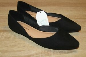 NEW Time And Tru Women's Flats in Black Memory Foam Casual Shoes