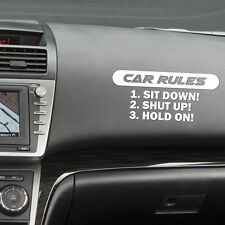 1PC Interesting Car Silvery CAR RULES Window Vinyl Barcode Sticker Window Decal