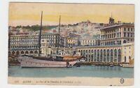 """Algerien - 1918, AK """"ALGIER - [Alger - Le Port et la Chambre de Commerce]"""" !!!"""