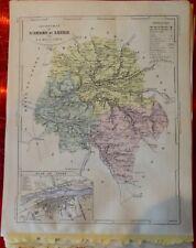 Old Map 1900 France Département l'Indre & Loire Tours Loches Chinon Verneuil