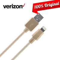 OEM Verizon Logo Braided USB Charging Data Cable for iPhone 11 XS Max XR 8 7 6S