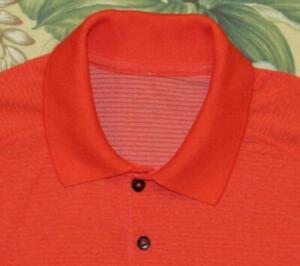 LULULEMON Orange Short Sleeve Tech Polo Shirt Medium M