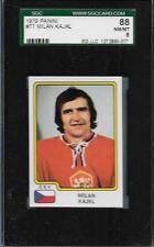 1979 PANINI HOCKEY STICKER CARD CSV MILAN KAJKL #77 SGC GRADED 8 NM-MT STICKER