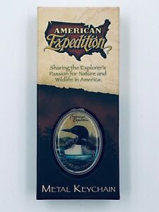American Expedition Common Loon Metal Keychain