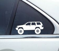 2X Lifted offroad truck stickers - for Jeep Grand Cherokee ZJ ,1993-1998 4x4