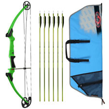 Genesis Archery Original Bow (Right Hand, Green) with 6 Nasp Arrows and Case