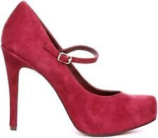 Women's Suede Mary Jane Heels