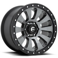 "4-Fuel D648 Tactic 18x9 6x5.5"" +1mm Gunmetal/Black Wheels Rims 18"" Inch"