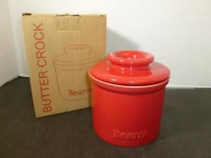 Tremain Beurre Red Butter Bell French Style Crock Butter Keeper