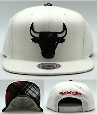 Chicago Bulls New Mitchell & Ness Plaid White Black Era Snapback Hat Cap