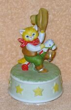 Vintage Kitty Cucumber Cowboy On A Pony Music Box Schmid