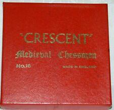 Crescent Brand Medieval Chessman Set  No 18 Made in England cbmc