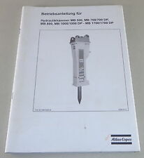 Manuale di istruzioni Atlas COPO richiamare MB 500, 700 MB/MB 800 ecc. - 2005