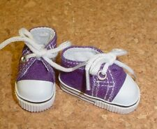 "Doll Shoes, 38mm DARK PURPLE Sneakers for 11"" Kaye Wiggs, others"