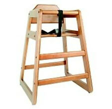 Commercial Restaurant Style Wooden Baby High Chair WALN