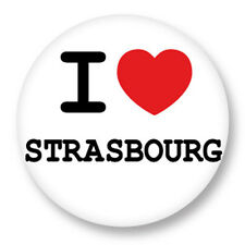 Porte clé Keychain Ø45mm ♥ I Love You j'aime Strasbourg Alsace Bas Rhin 67