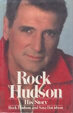 Rock Hudson His Story Sara Davidson & Rock Hudson Bio AIDS Book 1986 HC DJ