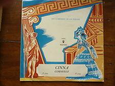 disque 33 tours- CINNA - CORNEILLE -  comédiens de la pléiade - 1956