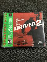 DRIVER 2 GREATEST HITS - PLAYSTATION - NO MANUAL - FREE S/H - (E)