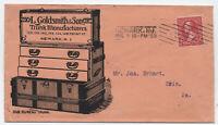 1897 L. Goldsmith & Son Newark NJ trunk advertising cover [y4253]