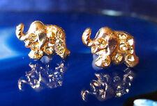 Ohrstecker Ohrring Elefant vergoldet mit Kristall gelb