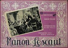"""MANON LESCAUT"" Affiche originale italienne 1940 (Vittorio DE SICA, Alida VALLI)"