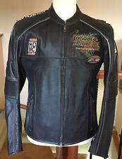 New HARLEY DAVIDSON Men's MEDIUM Black Leather Racing Jacket