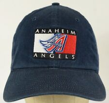 Anaheim Angels Embroidered Patch Blue Baseball Hat Cap with Cloth Strap Adjust