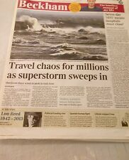 Lou reed  the times UK newspaper 28/10/2013 pic on cover and feature inside